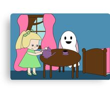 Ghost Tea Party Canvas Print