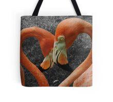 Flamingo Heart Tote Bag