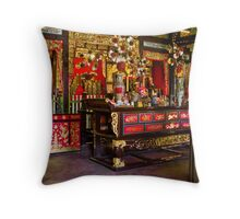 Chinese temple interior, Georgetown Throw Pillow