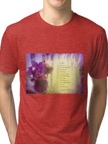 Serenity Prayer Violet Iris Tri-blend T-Shirt