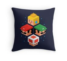 MUSHROOM KINGDOM CUBES Throw Pillow