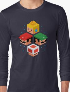 MUSHROOM KINGDOM CUBES Long Sleeve T-Shirt