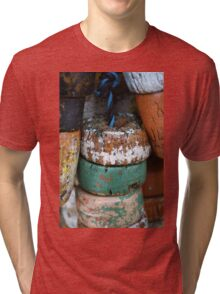Fishing Net Cork Floats Tri-blend T-Shirt