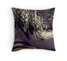 wave over parched land... Throw Pillow