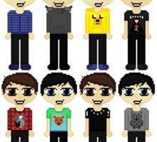 Mini Pixel Dan & Phils Sticker