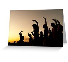 evening dance Greeting Card