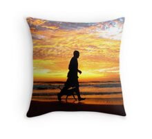 TWO MATES AT SUNRISE (FRIENDSHIP) Throw Pillow