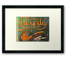 Tuxedo Tobacco Framed Print