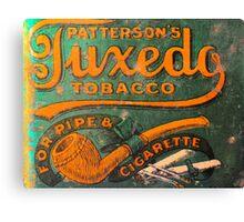 Tuxedo Tobacco Canvas Print