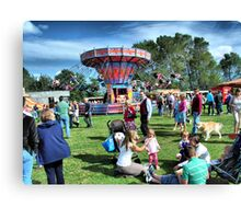 All the fun of the Fair at Hawkesbury Upton Show. Canvas Print