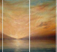 Yellow Misty Sunset by Cherie Roe Dirksen