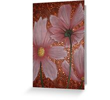 Three Pink Cosmos Greeting Card