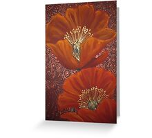 Red Poppy Duo Greeting Card