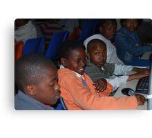 Township Life - Sharing Computers  Canvas Print