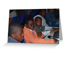 Township Life - Sharing Computers  Greeting Card