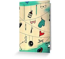 Crossing Wires Greeting Card