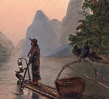 Burma Night Fisherman by Randy Sprout