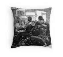 Small Town Rumble Throw Pillow
