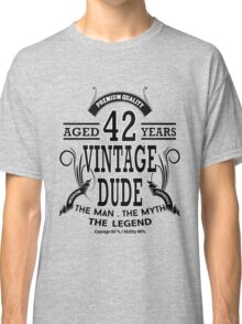 vintage dud aged 42 years Classic T-Shirt