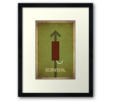Survival Hunter - WoW Minimalism Framed Print