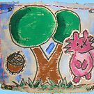 Squirrel & Tree by Samitha Hess Edwards