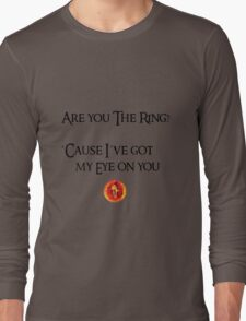 Lord Of The Rings Pick-Up Line (Light) Long Sleeve T-Shirt