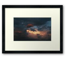 Winter Storms A-brewing ! Framed Print