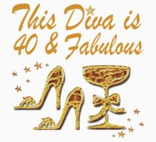 GLAMOROUS GOLD 40TH BIRTHDAY by JLPOriginals
