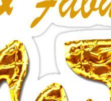 GLAMOROUS GOLD 40TH BIRTHDAY Sticker