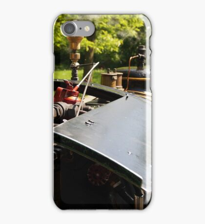 Cab of a historic steam train iPhone Case/Skin