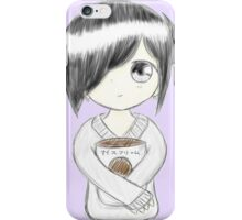 Anime girl with ice cream iPhone Case/Skin