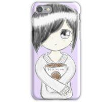 Anime girl with ice cream iPhone Case/Skin