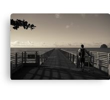 Man on Pier Canvas Print