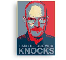 Walter White - I Am The One Who Knocks Metal Print
