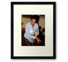 Dance Lesson, Ubud, Bali Framed Print