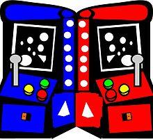Arcade Game Retro Style  by jgartshop