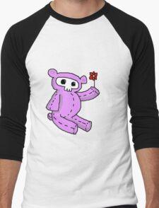 bear with flower Men's Baseball ¾ T-Shirt