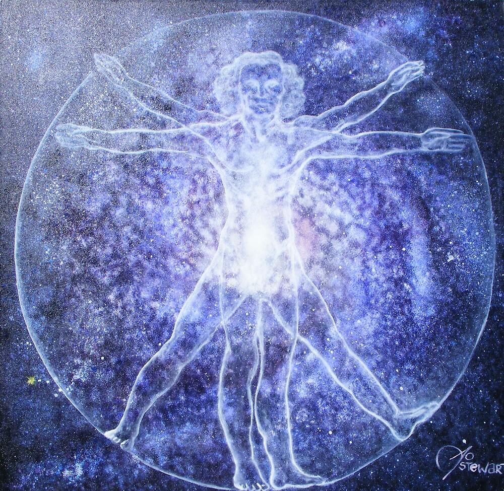 Origin (after da Vinci's Vitruvian Man) by Jodi Stewart
