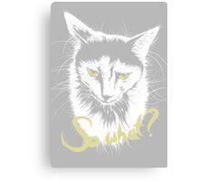 Sad Cat says 'So What?' Canvas Print