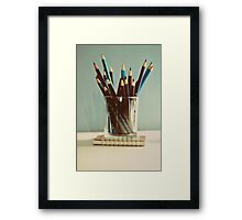 care to write? Framed Print