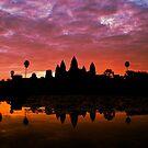 Sunrise Over Angkor Wat by David Henderson