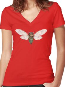 Cicada Tee Women's Fitted V-Neck T-Shirt