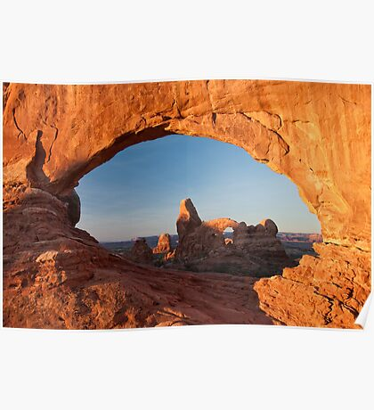 Turret Arch Through the North Window Poster