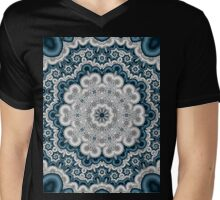 Satin Kaliedescope 4 Mens V-Neck T-Shirt