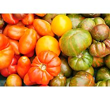 Assorted Heirloom Tomatoes Photographic Print