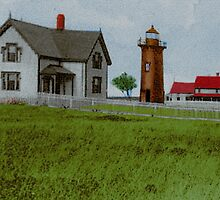 East Chop Light Early 1900s by Cliff Wilson