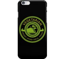 Vegetarian Heart Mind and Soul Food  iPhone Case/Skin