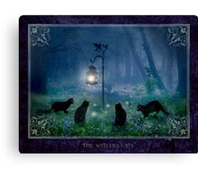 2010 calendar : The Witches Cats Canvas Print