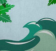 Waves and mint leaf by MarynaB