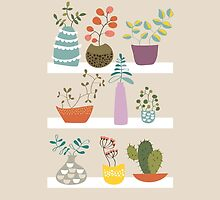 Shelves with plants and succulents by verogobet
